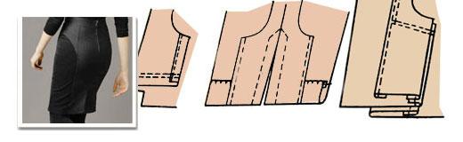 Обработка шлицы юбки