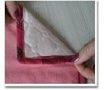 Окантовка одеяла косой бейкой