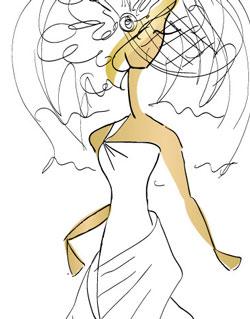 Эскиз будущей модели платья