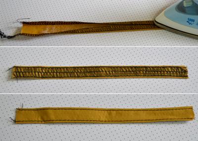 Обработка шлевки для пояса брюк