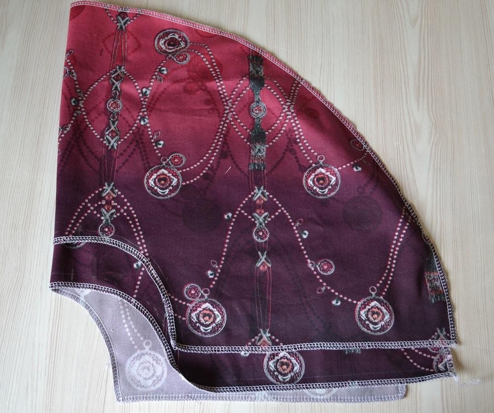 Как сшить юбку-солнце на резинке для девочки, шаг 5